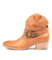 LIX Ankle Boots in Dark Tan Leather