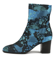 DELISCKA Ankle Boots in Blue Hanami Fabric
