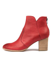 DAYZETTE Ankle Boots in Red Leather