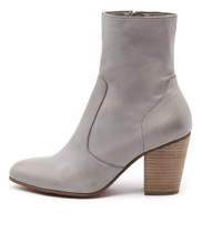 HESTER Ankle Boots in Grey Leather