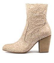 HESTERIA Ankle Boots in Nude Laser Cut Leather
