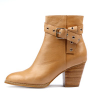 RUFINA Ankle Boots in Tan Leather