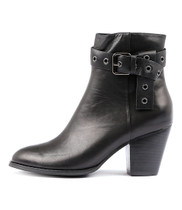 RUFINA Ankle Boots in Black Leather