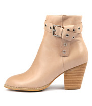 RUFINA Ankle Boots in Nude Leather