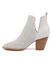 RENAE Ankle Boots in White Leather