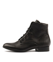 FRANS Ankle Boots in Black Leather
