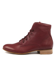 FRANS Ankle Boots in Burgundy Leather