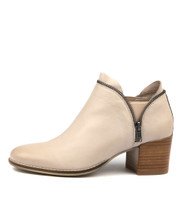 MIDDYS Ankle Boots in Nude Leather