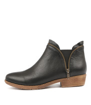 RUBINA Ankle Boots in Black Leather