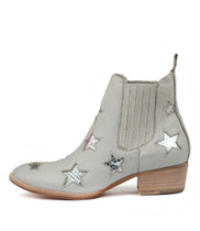 LISSA Ankle Boots in Pale Blue Leather
