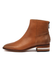 FLAVOR Ankle Boots in Cognac Leather
