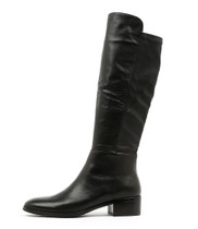 TETLEY Knee High Boots in Black Leather