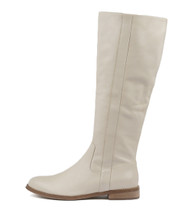 YARARI Knee High Boots in Stone Leather
