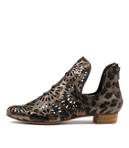 EVANO Ankle Boots in Ocelot Leather