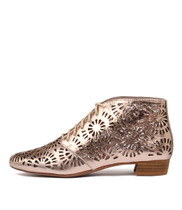 EBRU Ankle Boots in Rose Gold Leather