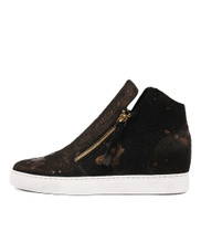 GRAYCE Sneakers in Black/ Bronze Pony Hair