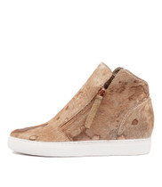 GRAYCE Sneakers in Cafe/ Rose Gold Pony Hair