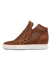 GAVEN Sneakers in Dark Tan Leather
