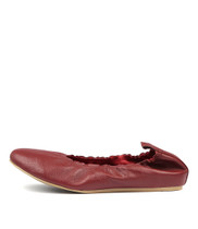 LULLO Ballet Flats in Red Leather