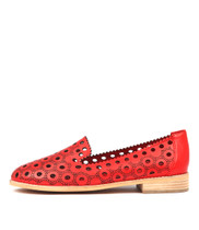 ANGELINA Flats in Red Leather