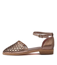 ARVIL Flats in Rose Gold Leather