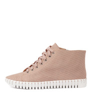 HAYWARD Lace-up Sneakers in Pale Pink Leather