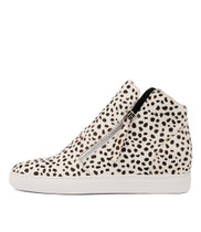 GRAYCE Sneakers in White/ Black Ocelot Pony Hair