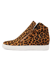 GRAYCE Sneakers in Tan/ Black Ocelot Pony Hair