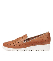 NICHOL Flatforms in Cafe/ Champagne Leather