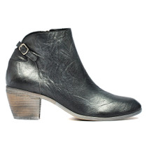 Maddy Ankle Boots in Black Metal