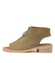 RESIGN Sandals in Olive Leather