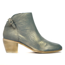 Maddy Ankle Boots in Blue Metal