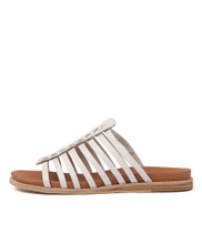 HILLARD Sandals in White Leather
