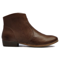 Oar Ankle Boots in Mocca Leather
