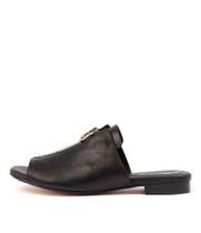 PRECIOUS Sandals in Black Leather