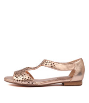 PRANAV Sandals in Rose Gold Leather