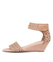 MCKENNA Wedge Sandals in Nude Leather