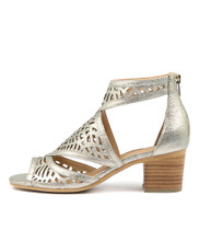 BEREOTO Heeled Sandals in Champagne Crush Leather