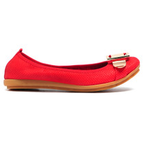 Danas Ballet Flat Red Leather