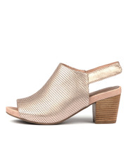 ZOOKY Heeled Sandals in Rose Gold Leather