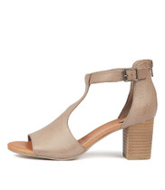 SORELY Heeled Sandals in Smoke Leather