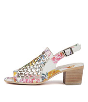 BIKKIS Heeled Sandals in Multi Leather