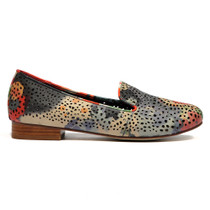 Allout Albert Loafer in Beige Multi Leather