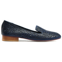 Allout Albert Loafer in Navy Leather