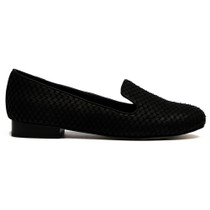 Abba Albert Loafer in Black Fish Leather