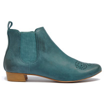 Eamo Ankle Boots Pull On in Denim Leather