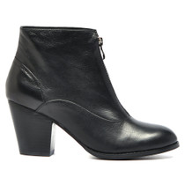 Ragin Heeled Ankle Boots in Black Leather