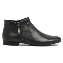 Gallie Ankle Boots in Black Leather