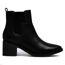 Najara Ankle Boots Pull On in Black Leather