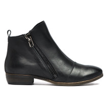 Oba Ankle Boots in Black Leather